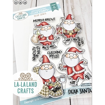 La-La Land Crafts Clear Stamps DEAR SANTA CL047