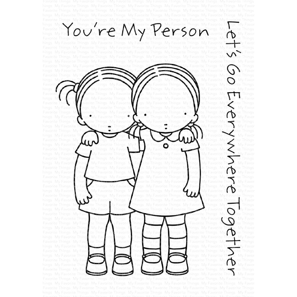 Pure Innocence YOU'RE MY PERSON Clear Stamps PI295 zoom image