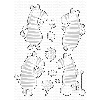 RESERVE My Favorite Things ZIPPY ZEBRAS Die-Namics MFT1674