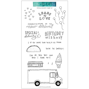 RESERVE Concord & 9th SPECIAL DELIVERY Clear Stamp Set 10754
