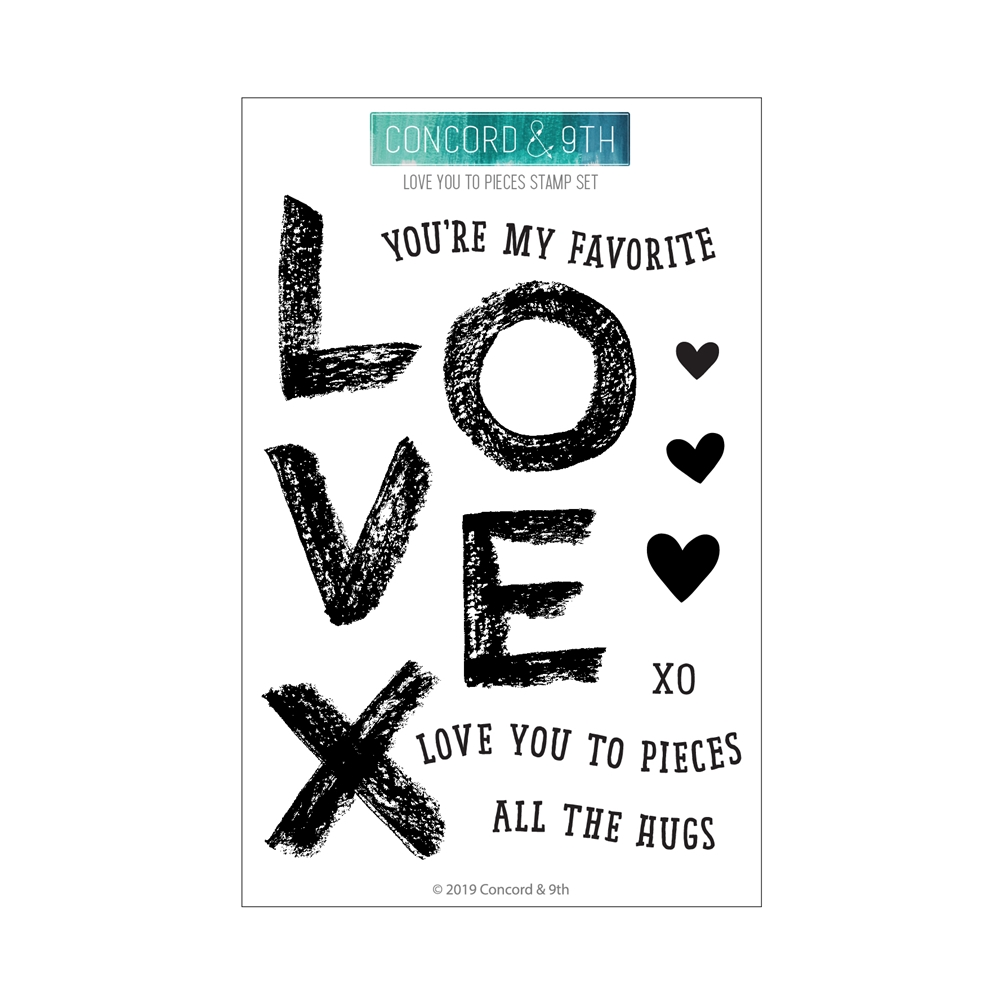 Concord & 9th LOVE YOU TO PIECES Clear Stamp Set 10748 zoom image