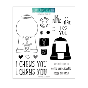 Concord & 9th I CHEWS YOU Clear Stamp Set 10745