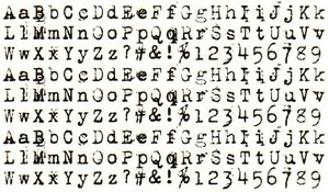 Tim Holtz Rubber Stamp ALPHA TYPE Stampers Anonymous P5-1412 zoom image