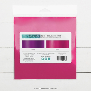 Concord & 9th FLIRTY 6x6 Foil Paper Pack 10742