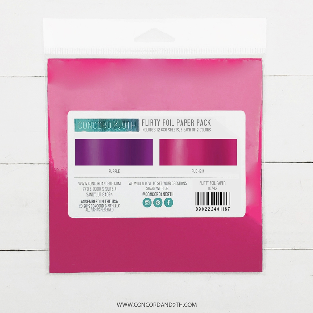 Concord & 9th FLIRTY 6x6 Foil Paper Pack 10742 zoom image