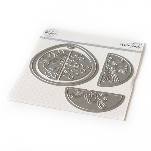 PinkFresh Studio TEARDROP TAG WITH FILLABLE ELEMENTS Essentials Die Set pf027es* Preview Image