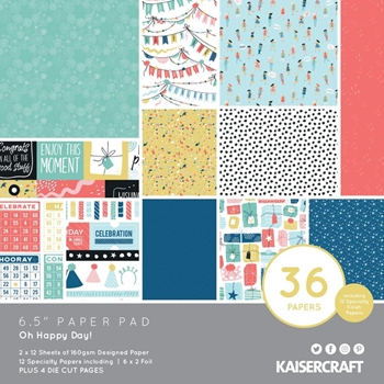 Kaisercraft OH HAPPY DAY! 6.5 Inch Paper Pad PP1082