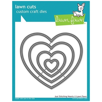 Lawn Fawn JUST STITCHING HEARTS Die Cuts LF2175
