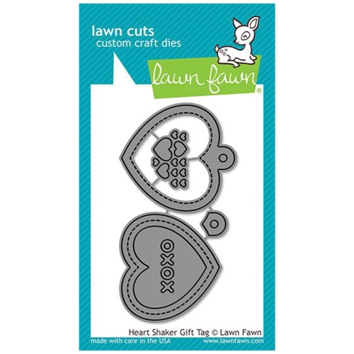 Lawn Fawn HEART SHAKER GIFT TAG Die Cuts LF2174 Preview Image
