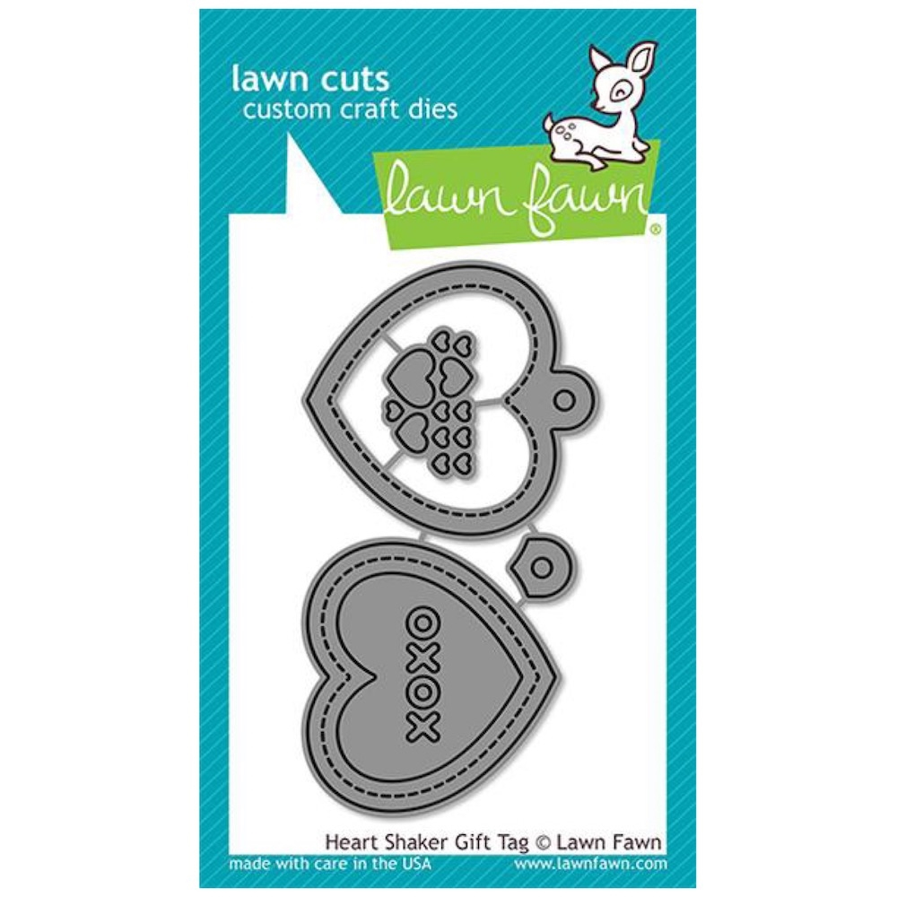 Lawn Fawn HEART SHAKER GIFT TAG Die Cuts LF2174 zoom image