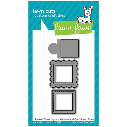Lawn Fawn REVEAL WHEEL SQUARE WINDOW ADD-ON Die Cuts LF2171 Preview Image