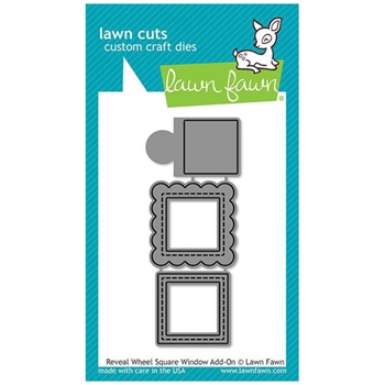 Lawn Fawn REVEAL WHEEL SQUARE WINDOW ADD-ON Die Cuts LF2171