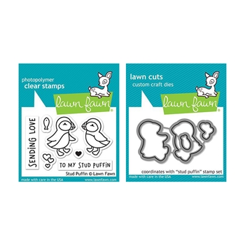 Lawn Fawn SET STUD PUFFIN Clear Stamps and Dies LLFSP