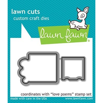 RESERVE Lawn Fawn LOVE POEMS Die Cuts LF2168