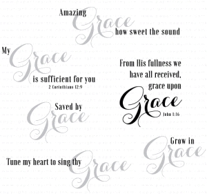 Papertrey Ink INSPIRED GRACE Clear Stamps 3219