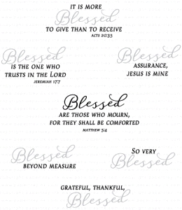 Papertrey Ink INSPIRED BLESSED Clear Stamps 3244