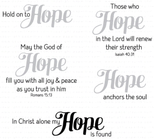 Papertrey Ink INSPIRED HOPE Clear Stamps 3279
