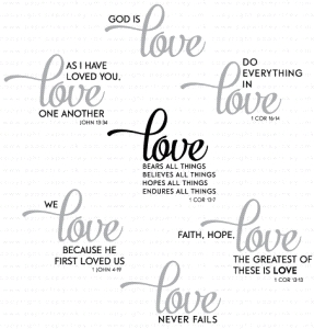 Papertrey Ink INSPIRED LOVE Clear Stamps 3303