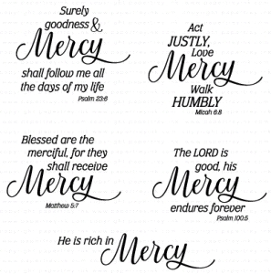 Papertrey Ink INSPIRED MERCY Clear Stamps 3294