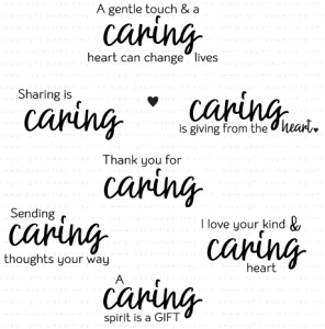 Papertrey Ink  WORDS TO LIVE BY CARING Clear Stamps 3615
