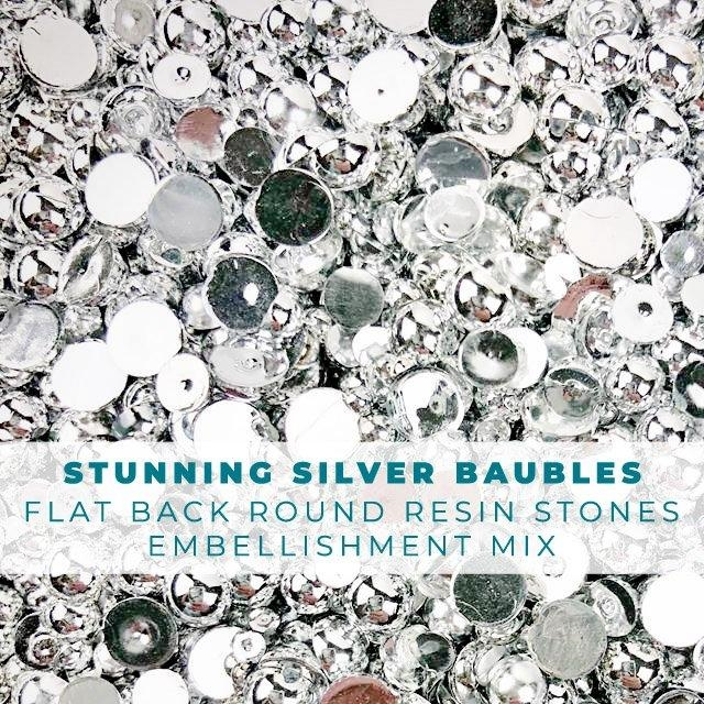 Trinity Stamps STUNNING SILVER BAUBLES Embellishment Box 092631 zoom image