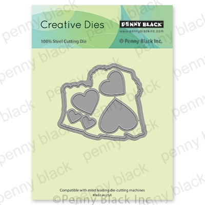Penny Black BEAR -Y- MUCH CUT OUT Thin Metal Creative Dies 51-598 zoom image