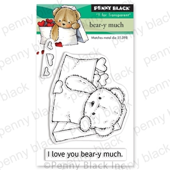 Penny Black Clear Stamps BEAR -Y- MUCH 30-657