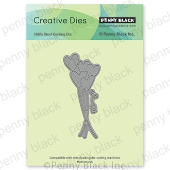 Penny Black LOVE BALLOONS Thin Metal Creative Dies 51-595