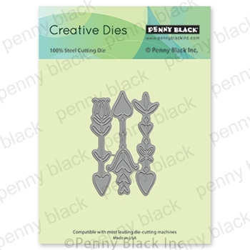 Penny Black DOODLES OF LOVE Thin Metal Creative Dies 51-594