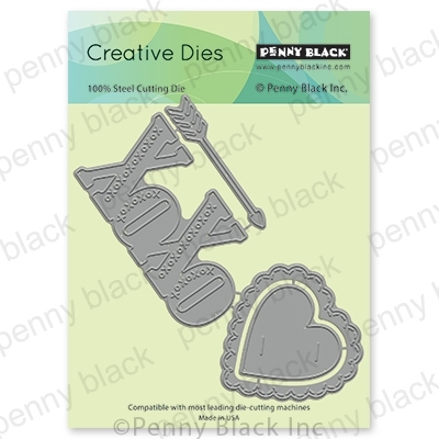 Penny Black YOUR LOVE Thin Metal Creative Dies 51-591 Preview Image