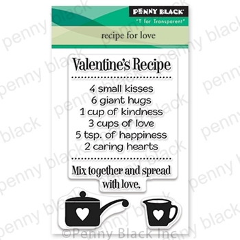 Penny Black Clear Stamps RECIPE FOR LOVE 30-669