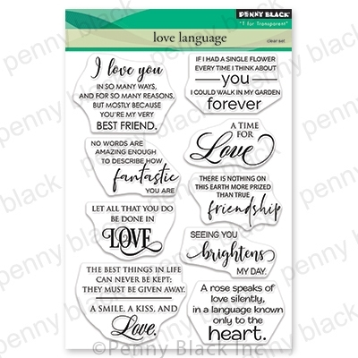 Penny Black Clear Stamps LOVE LANGUAGE 30-667 zoom image
