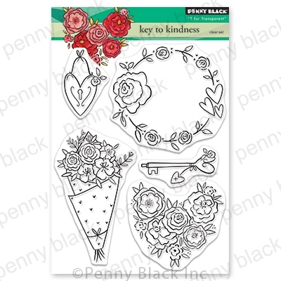 Penny Black Clear Stamps KEY TO KINDNESS 30-665 Preview Image