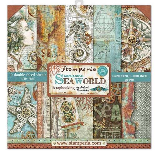 Stamperia SEA WORLD 8x8 Paper sbbs13 Preview Image