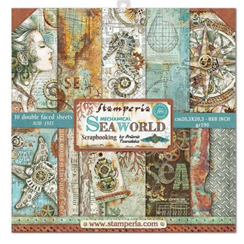 Stamperia SEA WORLD 8x8 Paper sbbs13