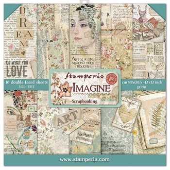Stamperia IMAGINE 12x12 Paper sbbl65