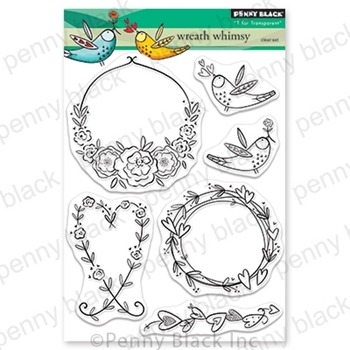 Penny Black Clear Stamps WREATH WHIMSY 30-654