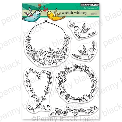 Penny Black Clear Stamps WREATH WHIMSY 30-654 zoom image