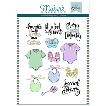 Maker's Movement LITTLE FEET Stamp Set mos221