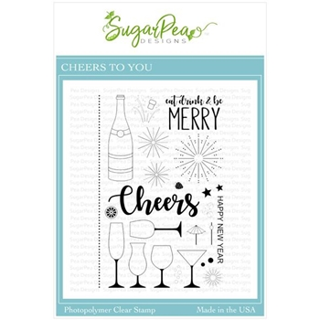SugarPea Designs CHEERS TO YOU Clear Stamp Set spd-00388