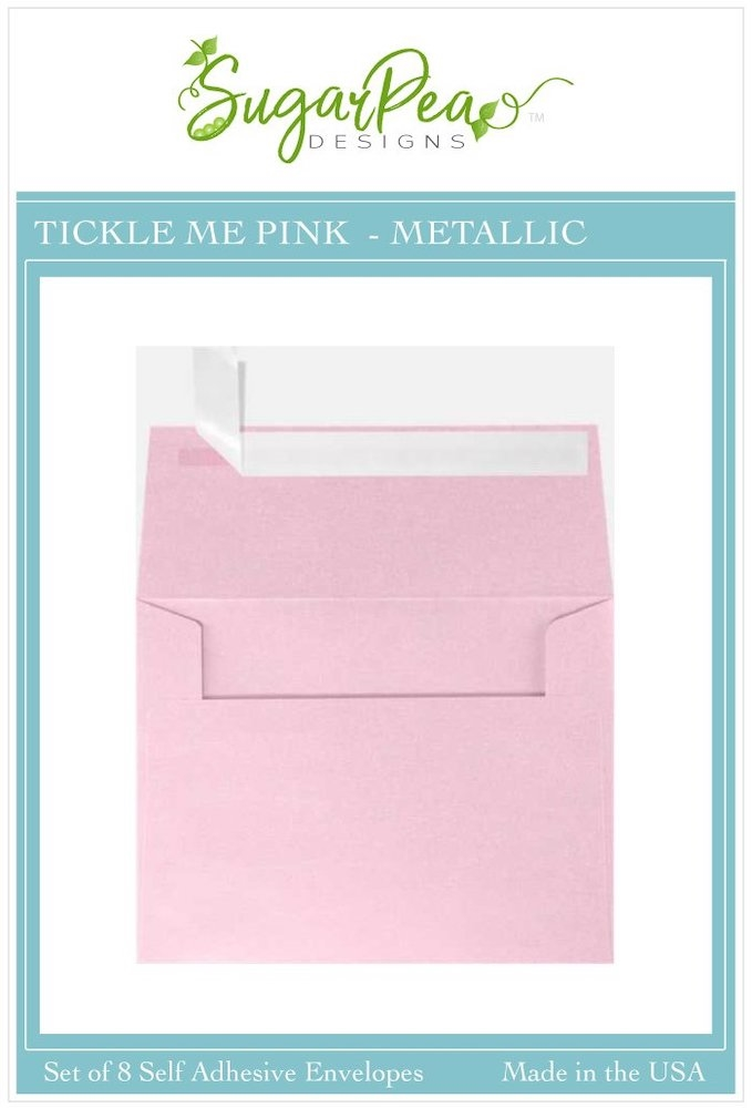 SugarPea Designs TICKLE ME PINK METALLIC Envelopes spd-00414 zoom image