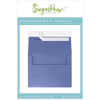 SugarPea Designs BOARDWALK BLUE METALLIC Envelopes spd-00417