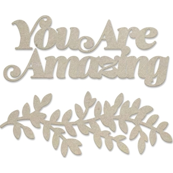 Couture Creations YOU ARE AMAZING Chipboard Peaceful Peonies co727423