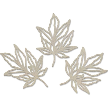 Couture Creations LEAFY BRANCHES Chipboard Peaceful Peonies co727426*
