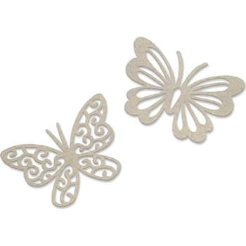 Couture Creations DUAL BUTTERFLIES Chipboard Peaceful Peonies co727425