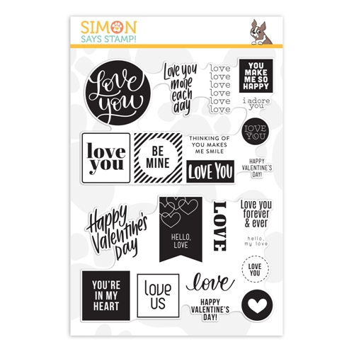 Simon Says Clear Stamps LOVE WORD MIX 2 sss202078 Love You More Preview Image