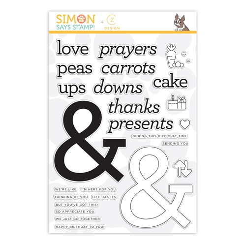 CZ Design Clear Stamps AMPERSAND WORDS czs48 Love You More Preview Image