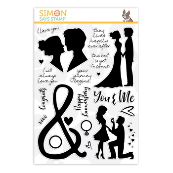 Simon Says Clear Stamps YOU AND ME FOREVER sss202079 Love You More