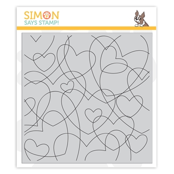 Simon Says Cling Stamp HEART TO HEART BACKGROUND sss102095 Love You More