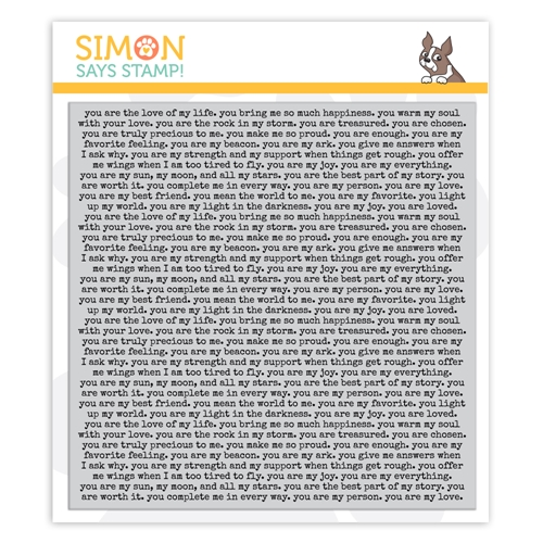 Simon Says Cling Stamp YOU ARE BACKGROUND sss102080 Love You More Preview Image